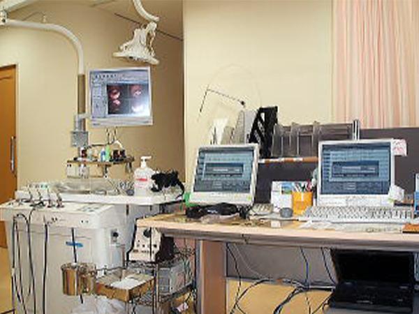 写真:横に並んだコンピューター